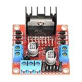 SALUTUYA 1pc L298N Mdulo de placa de controlador de controlador de motor, controlador de tipo de canal dual de puente H, para Robot de coche inteligente de Motor paso a paso
