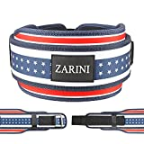 ZARINI Weightlifting Belt, 8MM Thick & 5 Inches Wide-Men & Women Squat Fitness Weight Lifting Belts, Double Stitched Premium Waist Support Belt (Include Weightlifting Wristbands and Knee Pads) M