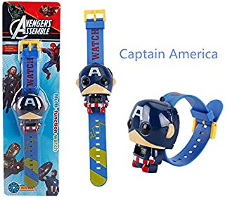 Pitaya. The 3 Electric Kids Boy Watch Man Spider Man Figure Model Toys for Birthday Gift -Collectable Movies Comics Gamerverse Superheroes