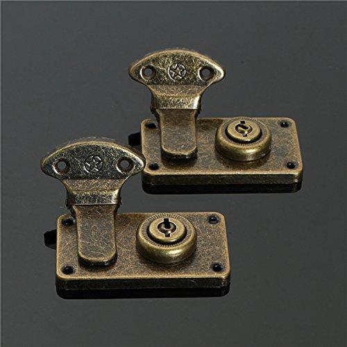 CHIMAKA 2 unids latón cierre de hebilla de cierre para maleta caja de equipaje Nuevos accesorios de bricolaje