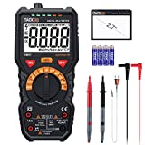 Multimeter Tacklife DM07 Digital Autorange 6000 Counts True RMS für AC DC Spannung Strom Widerstand Durchgangsprüfung Temperatur mit Großer LCD Bildschirm Hintergrundbeleuchtung