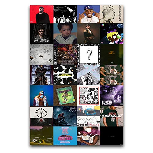 Rapper Album Cover Collage Poster Hip Hop Collage Poster CanvasesHome decoration...