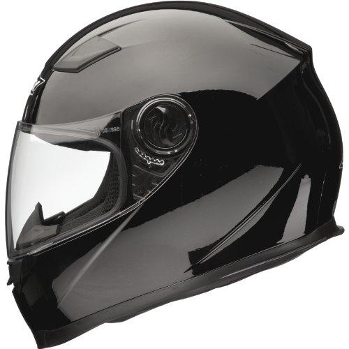 Shox Sniper Solid Motorrad Helm M Glänzende Schwarz