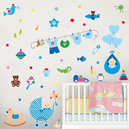 Cartoon Schattige babykamer milieuvriendelijke PVC kan van plakkerige muurstickers worden verwijderd