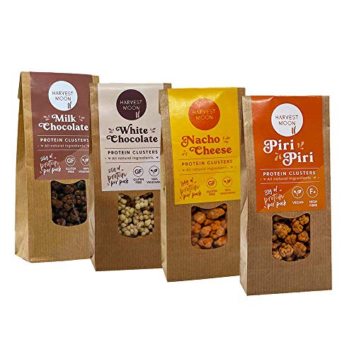Harvest Moon High Protein Cluster Selection Box with 12 Packs of 80g Health Snacks Sweet & Savoury