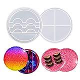 Resin Eyelashes Holder Mold, Silicone Eyelash Display Tray Resin Mold Set with Lid, Epoxy Eyelashes Storage Box Molds, Cosmetic Care Container Casting Mold