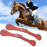 WBHZ 1 Paio di Cinturini per Speroni-Cintura in Pelle per Speroni in Stile Occidentale Accessori per Equitazione in Vera Pelle Fatti a Mano-Cavaliere,Marrone