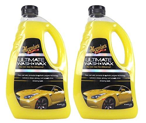 Meguiar\'s 2X MEGUIARS Ultimate Wash & Wax Autoshampoo Shampoo Wasch und Wachs Autopflege Fahrzeugshampoo für Autopflege Autowachs Fahrzeugwachs Ultimative Produkt zur Autowäsche 1420 ml