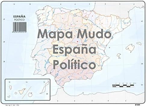 Mapa Mudo SELVI Color Din-A4 España Político, Caja x50: Amazon.es: Oficina y papelería