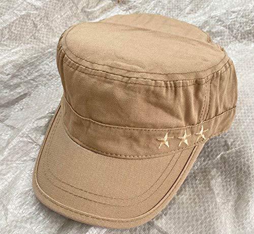 wtnhz Artículos de Moda Sombrero de Estilo Coreano para Hombre, Gorra de béisbol de Primavera y otoño, Gorra Militar Plana para Exteriores de algodónRegalo de Vacaciones