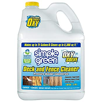 Simple Green Oxy Solve Deck and Fence Pressure Washer Cleaner Colorless to Pale Straw Unscented 128 Fl Oz