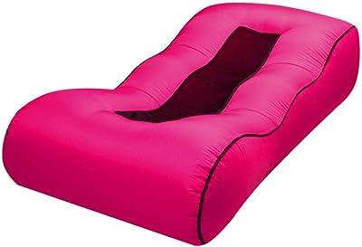 Canapé d'air de lit gonflable paresseux extérieur sac de couchage canapé d'air de Plage extérieur-Rose Rouge_190 85 40 cm