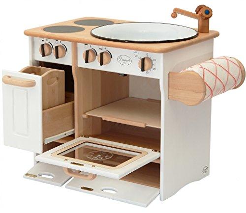 Erst-Holz 932-2044 DL Drewart Kinderküche mit Zubehör Spielküche Massivholz weiß - 2