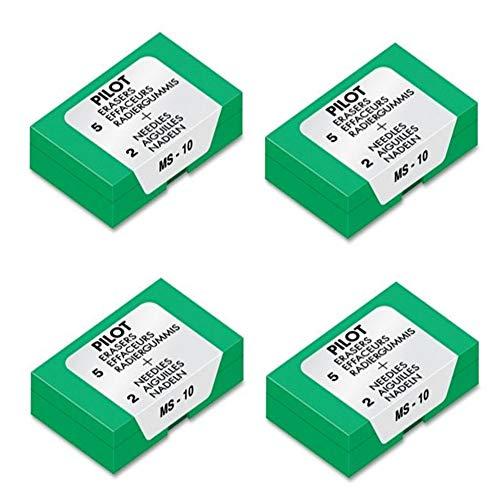 Pilot Eraser Refills, 70001, 5/Pack, 4 PACK