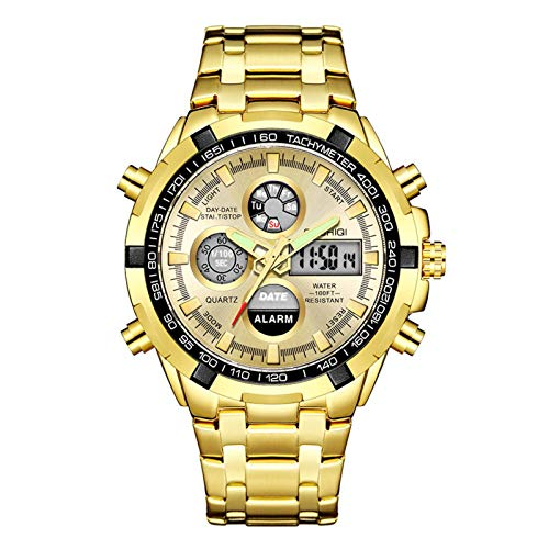 N-B Watch Card Re-Engraved Electronic Western European Watch Double Display Mechanical Men's Watch