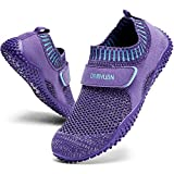 QIJGS Water Shoes for Kids Boys Girls Quick Drying Aqua Athletic Swim Sneakers Barefoot Beach Sports Lightweight Comfort Toddler Little Big Kid