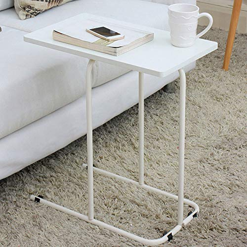 MGMDIAN Sofa side cabinet side table computer table small coffee table mobile phone corner (Color : White)