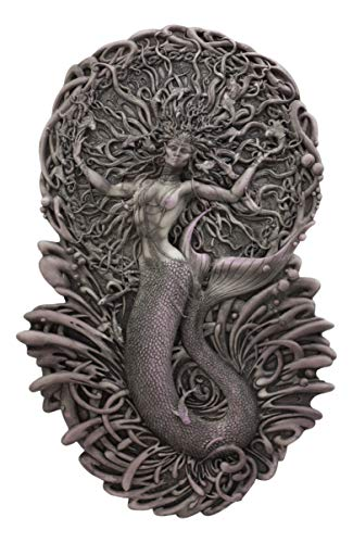 Ebros Celtic Irish Mythology Mermaid Triple Goddess Aine Wall Decor Deity Of The Sun Wealth Love Fertility And Sovereignty Hanging Plaque Mother Maiden Crone By Maxine Miller (Painted Resin)