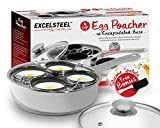 ExcelSteel Non Stick Easy Use Rust Resistant Home Kitchen Breakfast Brunch Induction Cooktop Egg...