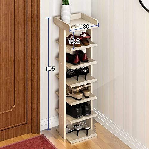 Gabinete de zapatos a prueba de polvo Tallera de zapatos de 7 niveles, Economía doméstica Montaje Multi-capa Puerta de estante, Estante de zapatos Estante moderno Moderno a prueba de polvo, 105 cm de