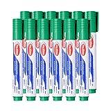 S-TROUBLE 12 unids/Set rotulador de Pizarra borrable de Cabeza Gruesa Punta Fina Recargable Tinta líquida no tóxica bolígrafos de Escritura de Colores para Material de Oficina Escolar