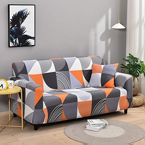 PPMP Fundas de Spandex para sofá para Sala de Estar, Funda elástica para sofá, Fundas para sillón, Protector de Muebles A18, 4 plazas
