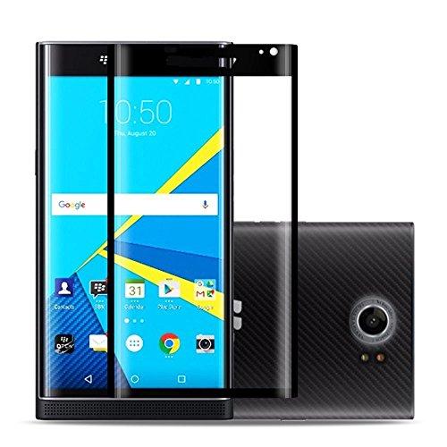 Displayschutz aus gehärtetem Glas für Blackberry Priv, 3D vollständige Abdeckung, blasenfrei, 9H Härte, kratzfest