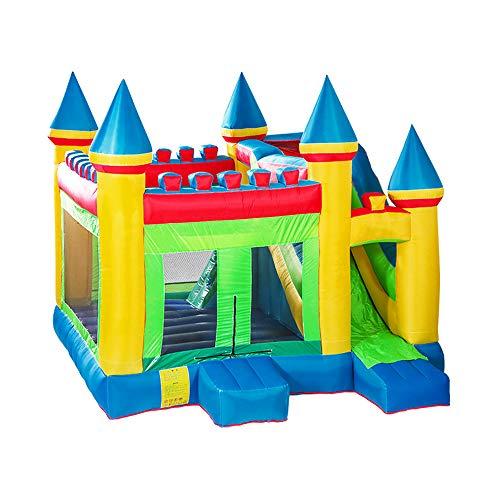 DEAR-JY Hüpfburgen,410 × 380 × 410 cm,Großer Vergnügungspark mit Rutschen Trampolin Kletterwand,Aufblasbarer Schlosspark für Kinder im Innen- und Außenbereich