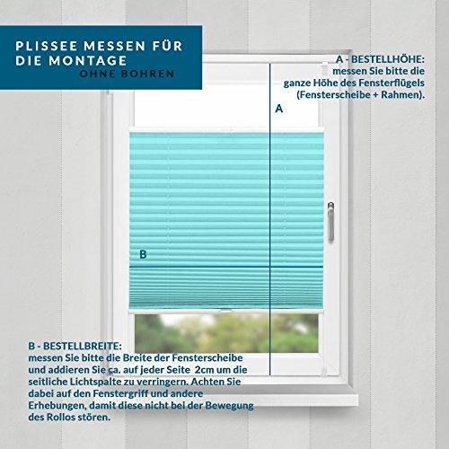 Plissee Türkis HOME-VISION - 9