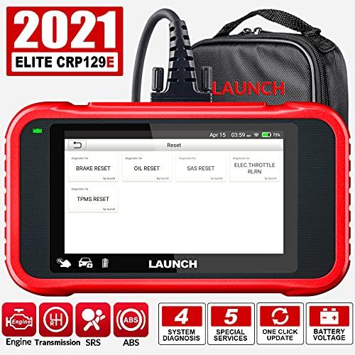 LAUNCH CRP129E OBD2 Scanner pour Moteur ABS SRS Lecteur de Code de Transmission avec Huile/EPB/TPMS/SAS/Boîtier de Papillon Réinitialiser l'outil de Diagnostic de Voiture,AutoVIN WiFi Updates