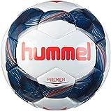 hummel Premier FB-Ballon de Football Balles Mixte Adulte, Blanc/Bleu Indigo/Rouge, 5