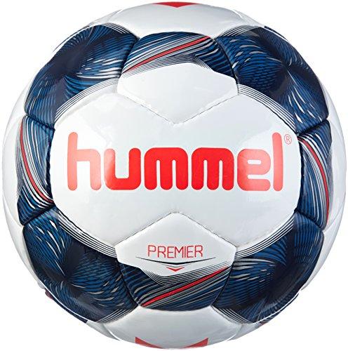 Hummel Erwachsene Premier FB Fussball, White/Vintage Indigo/Red, 5