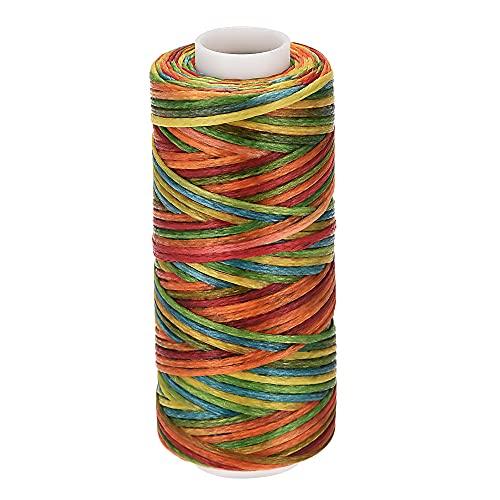 sourcing map Cuero Costura Hilo 55 Yardas 150D/1mm Poliéster Encerado Cordón para Mano Costura (Vistoso)
