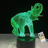 Rotierende Nase Elefant Lichtfarbe Kinder Nachtlicht Geburtstagsgeschenk Touch Fernbedienung Unterstützung direkte Waren