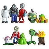 10 Unids / Set Plants Vs Zombies Toy 3-7Cm PVZ Collection Plant Zombies Figura De Juguete para Niños Regalos De Cumpleaños