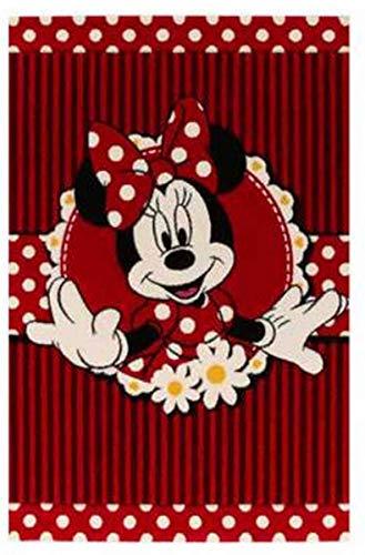 Tapis pour Chambre enfants - Disney Minnie Mouse - Mesure 67 x 140 cm - Couchage courte 13 mm
