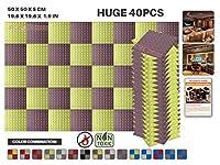 エースパンチ 新しい 40ピースセット ブルゴーニュと黄 500 x 500 x 50 mm ピラミッド 東京防音 ポリウレタン 吸音材 アコースティックフォーム AP1034