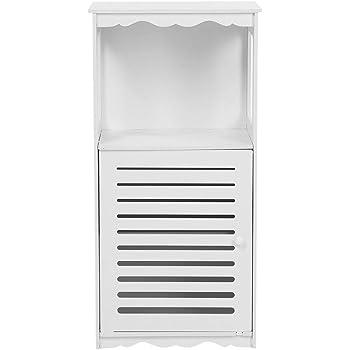 Pissente Mueble Columna de Baño Blanco,Impermeable Armario de ...
