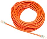 AmazonBasics 12/3 SJTW Heavy-Duty Lighted Extension Cord | Orange, 100-Foot