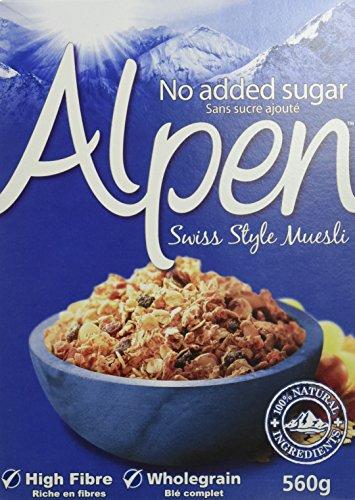 Alpen Céréales Muesli sans Sucres Ajoutés 560 g (L'emballage peut varier)