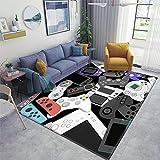 Gamer Controller Area Rugs Non-Slip Floor Mat Doormats Home Runner Rug Carpet for Bedroom Indoor Outdoor Kids Play Mat Nursery Throw Rugs Yoga Mat