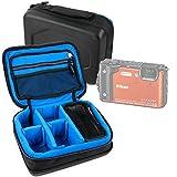 DURAGADGET Bolsa Acolchada Profesional Negra con Compartimentos para Cámara Sumergible Nikon Coolpix W300