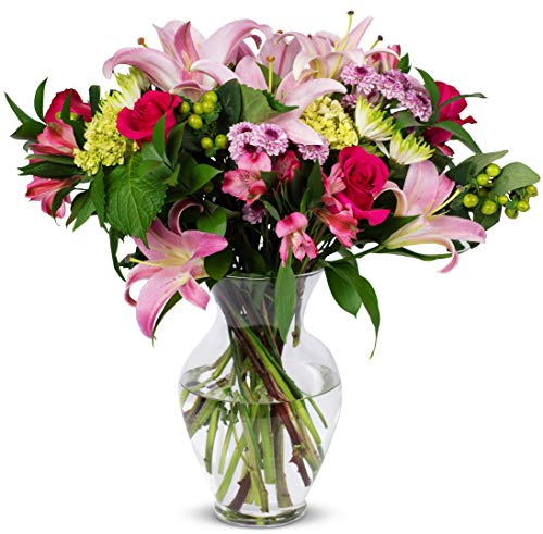 Benchmark Bouquets Blissful Blossoms Pink, With Vase (Fresh Cut Flowers)