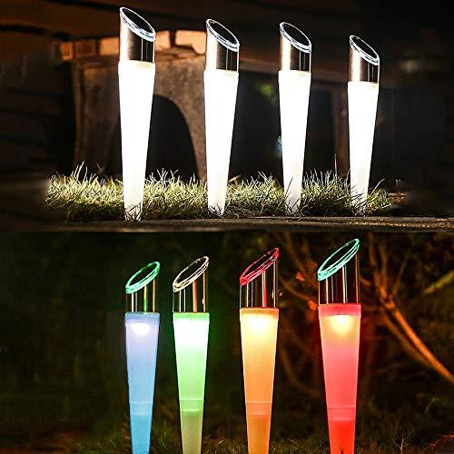 地中埋込型ライト ソーラー トーチライト ガーデンライト パスライト 埋め込みライト 防水 2つ照明モード RGB色 昼光色 切替 自動点灯消灯 屋外 ガーデン 玄関 庭 芝生 車道 歩道 花壇 装飾 雰囲気作り (4セット)