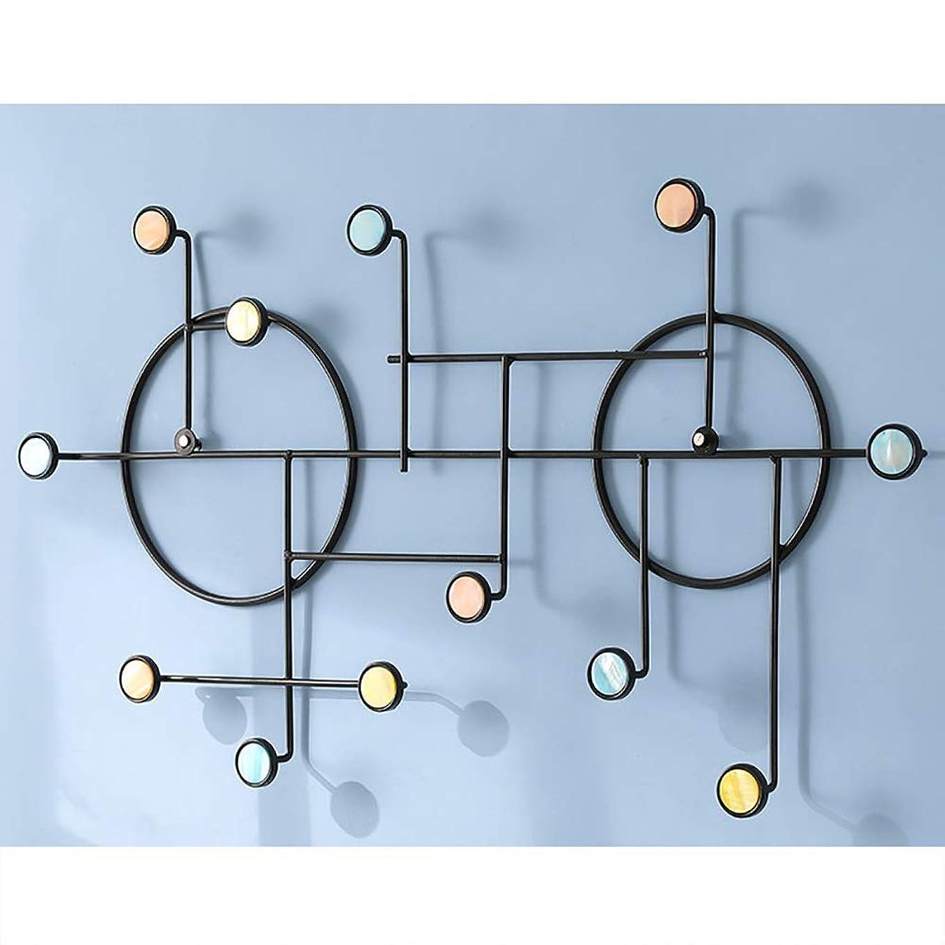 エトナ山思われる収束するハンガーラック コートラック壁掛け壁フックポーチリビングルーム無料パンチ壁浴室ドアフック (Color : Black, Size : L)