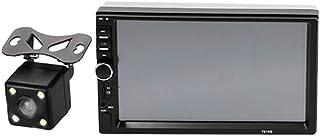 """LOVIVER MP7""""2 Din Touch Screen Car MP5 Player Rádio FM Estéreo Sem Fio HD com Câmera - com 4 câmera led"""
