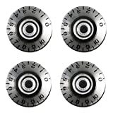 Volume & Tone Knob Set of 4 for Gibson Les Paul Guitar Replacement Electric Guitar Parts - Clear