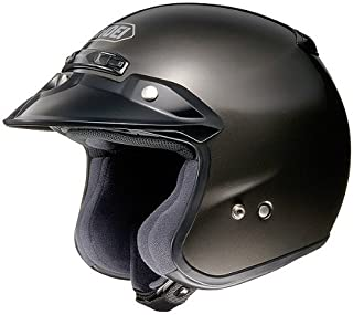 Shoei Metallic RJ-Platinum R Cruiser Motorcycle Helmet - Anthracite/Large