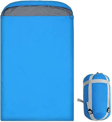 GOFEI Enveloppe Sac de Couchage pour Adultes Portable Camping Sacs de Couchage avec Sac de Compression pour la randonnée Backpacking