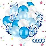 Sunshine smile 60 Piezas Globo de Confeti Globos de Fiesta Globos de Confeti Globos de látex Blancos Globos de Helio Perla(30cm/12) (Azul)